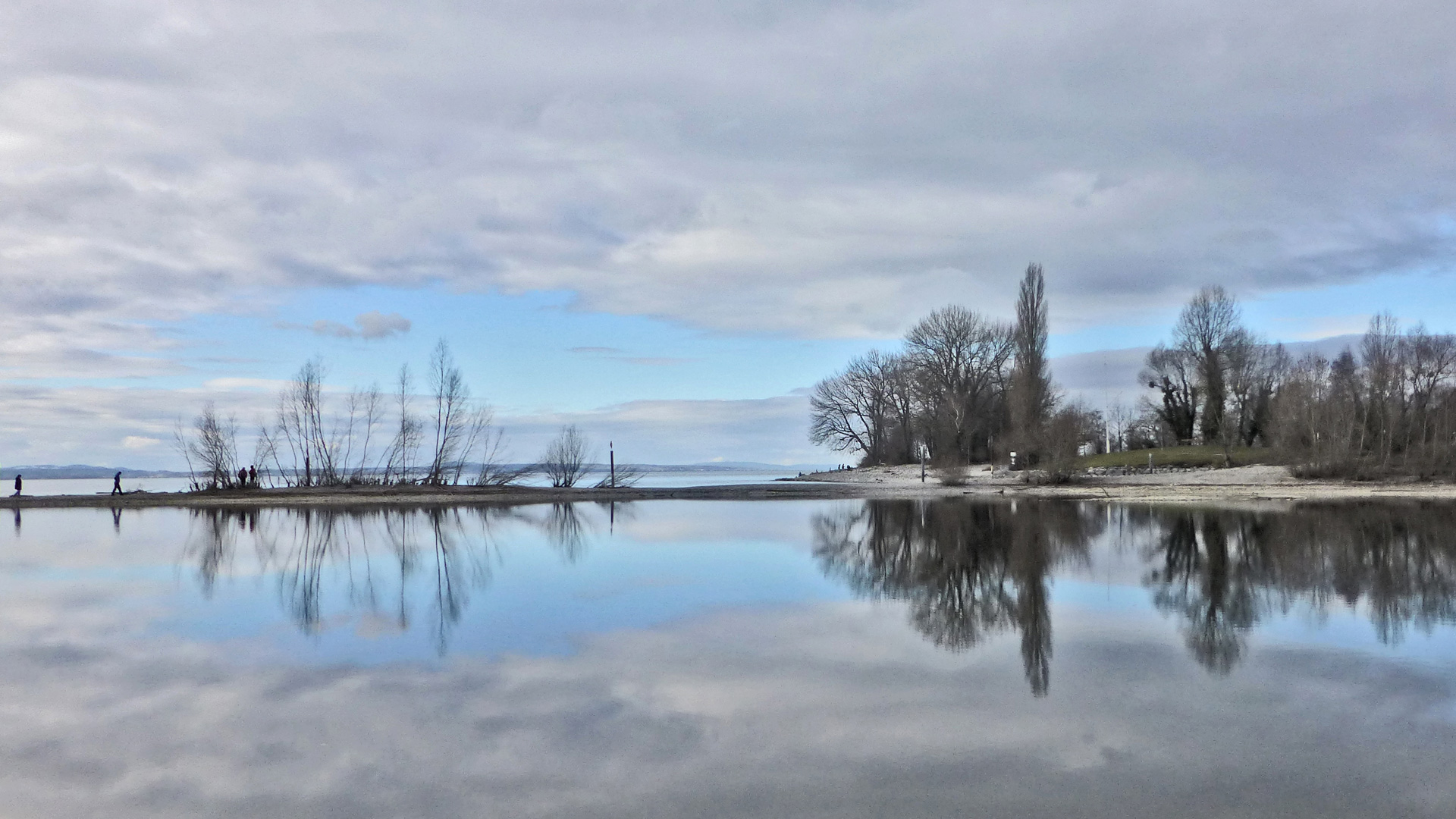 Fluss Argen im Winter